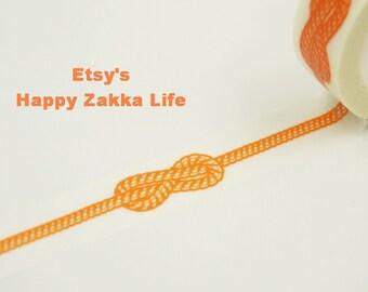 Japanese Washi Masking Tape - Orange Knot - 11 Yards