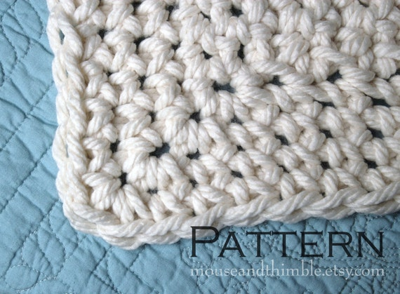 Queen Sized Chunky Afghan Blanket Easy Crochet By