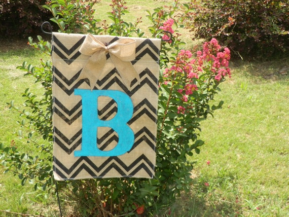 Garden Flags Personalized Chevron Personalized Garden Flag
