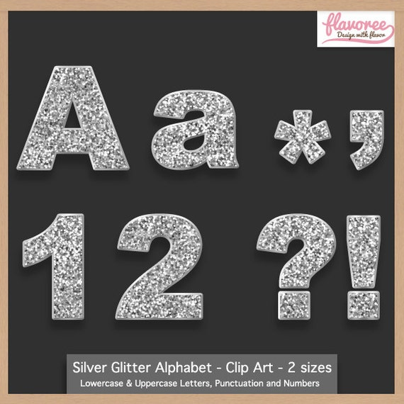Glitter Alphabet Cliparts  Illustrations  Creative Market