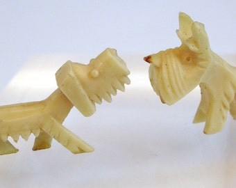 Vintage Scottie Dog 30s Celluloid Plastic Miniature Toy Scottie and Terrier dogs made in Japan