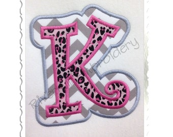 Double Applique Curlz Machine Embroidery Font Monogram Alphabet - 4 Sizes