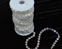 Acrylic Clear beads Strands Garland 30 Meters Roll x 1 for Wedding tree centerpiece bouquet Floral Craft Cake Decoration