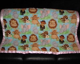 Jungle Baby Personalized Fleece Blanket 46x60