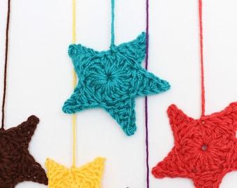 Crocheted STAR Ornament PDF PATTERN