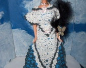 Barbie in Crocheted 1902 Summer Ball Gown