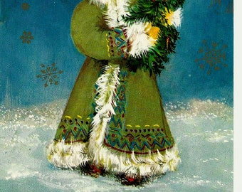 Christmas, North, Vintage Russian Postcard USSR, Happy New Year unused 1979