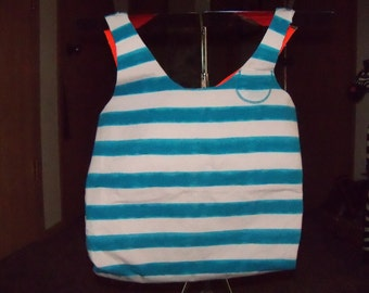 Summer Marine Stripe Bag