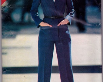 See and Sew 3407 Misses' Jacket and Pants Pattern, UNCUT, Size 14-16-18, Unlined Jacket, Work Wear, Vintage