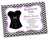 Bachelorette Invitation - Printable - Lingerie Shower, Bachelorett Party, Girls Night Out, Chevron