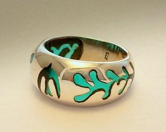 Matisse Ring .Sterling Silver Art.