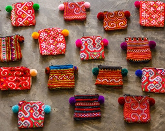 Mini Hmong Purse/Coin Bag/ Accessories/ Ethnic/ Embroidery/Colorful/Tribal /wholesale