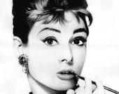 Cross Stitch Pattern - Audrey Hepburn 5  - PDF - Instant Digital Download - SALE