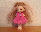 Realpuki Fairyland Medium Pink Hand dyed Dress