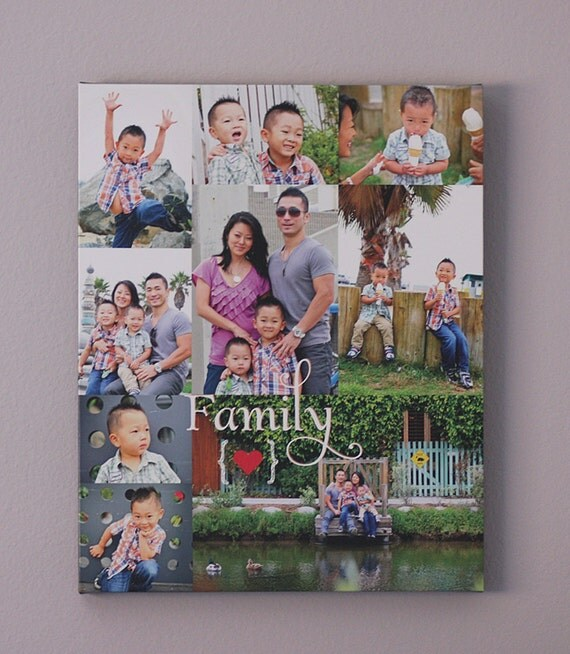 Family Photo Gift Personalized Family Photo Collage Gift for