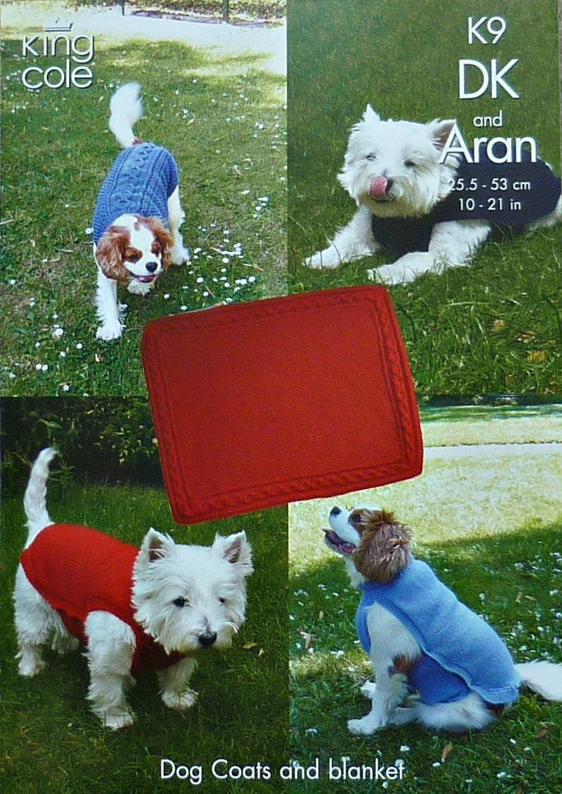 Knitting Coats For Dogs : Dog coat knitting pattern k coats and blanket