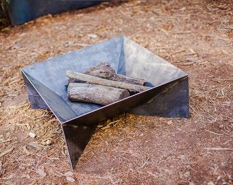 "The Fin Fire Pit 36"" - Steel Modern Metal bowl firepit"