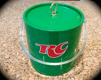 Green RC Cola Mid century modern atomic age ice bucket