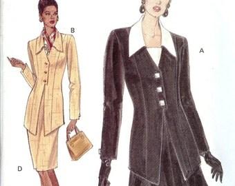 Vintage Very Easy Very Vogue Pattern 8830 Misses Top & Skirt 8-12 UNCUT