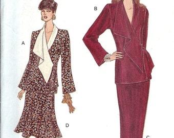 Vintage Very Easy Very Vogue Pattern 8813 Misses Top & Skirt 6-10 UNCUT