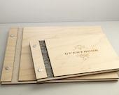 Classic Mini - Custom Wedding WOOD Guest Book