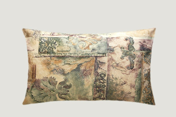 decorative pillow case pastel colors antique motive. Black Bedroom Furniture Sets. Home Design Ideas