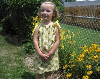 5T Amy Butler dress.  Pillowcase dress.  Lotus Flower dress.