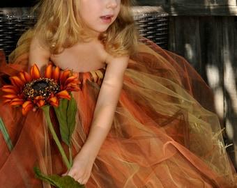 Scarecrow Tutu Dress:   Halloween Costume - Baby, Toddler, Girls Harvest Tutu Dress