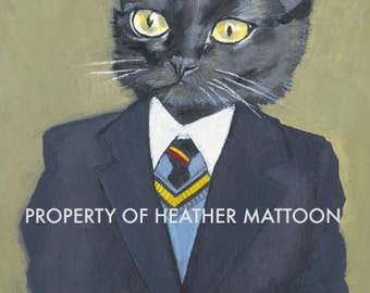 George - Matte Print- From Painting by Heather Mattoon
