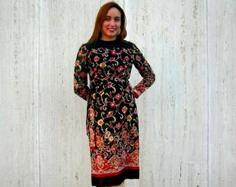 Vintage Dress black floral