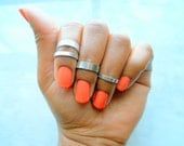 Silver Midi rings, Above Knuckle Ring, Adjustable Midi Ring, Stackable rings, Edgysheeq statement rings for everyday Flair