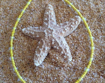 Bright and Sunny Beaded Anklet