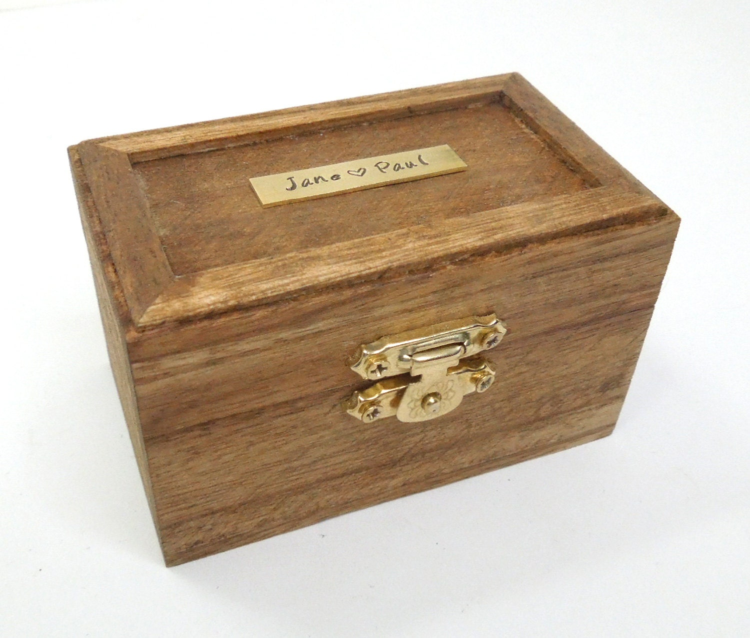 rustic personalized ring box ring bearer box by indiecreativ
