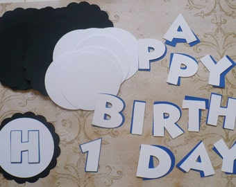 U Choose Colors - Scallop Circles Letters HAPPY BIRTHDAY Die Cuts crafts DIY Kids Crafts Birthday Party Banners Tags etc.
