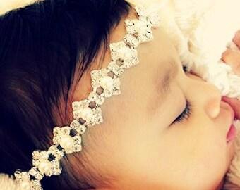 Baby ,Wedding headband, Bridal Crystal Headband - Headpiece, Rhinestone Headband