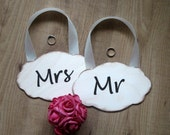 Wedding sign Mr and Mrs wooden wedding decoration Rustic and barnyard chic.