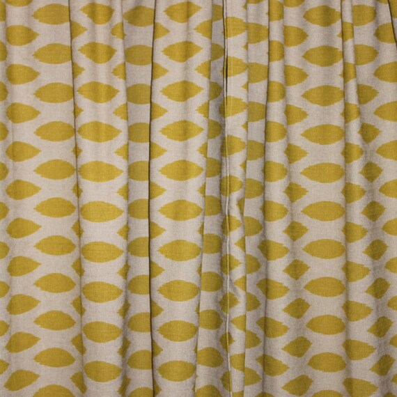 Custom length mustard yellow curtains by beautifullyliving on etsy