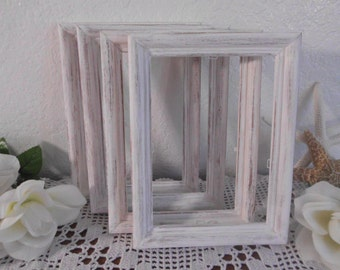 White Shabby Chic Wedding Table Number Frame Rustic Distressed Decoration Beach Cottage French Country Home Decor Gift for Her