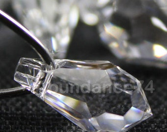2pcs Swarovski Crystal 6000 22mm Teardrop Pendant Crystal Clear