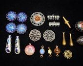 Vintage destash cloisonné beads , connectors, charms for repurpose or deconstruction