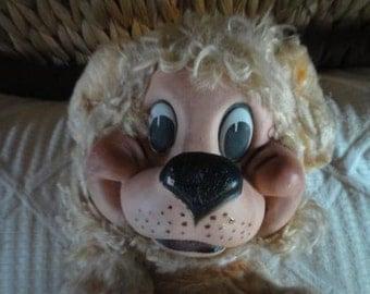 Vintage Gund Mfg Co J Swedlin rubber face Lion cloth body 40's -50's