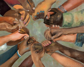 Thanksgiving, Children in Unity, kids holding hands, Martin Luther King, love, friendship, Kids of all races, together, group holding hands