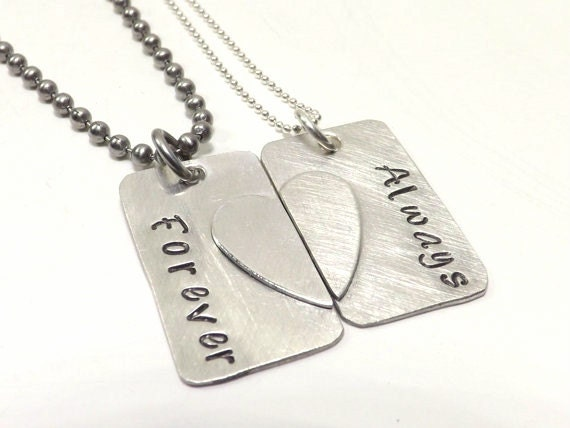 Broken Heart Couples Necklace Couples Broken Heart Matching