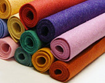 "1 to 20 Sheets 9"" x 12"" You Choose Felt Colors"