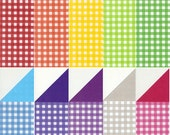 Check Patterns, Plain Colors I - Double Sided Origami Paper- 20 Sheets