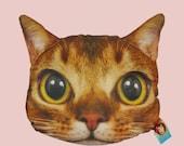 100% Original Cat Head Style Pillow  - bus cat-  Very Cute NEW