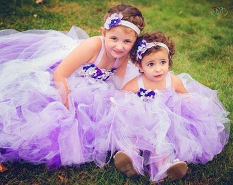 Purple, Lavender, Ombre, Flower Girl Tutu Dress