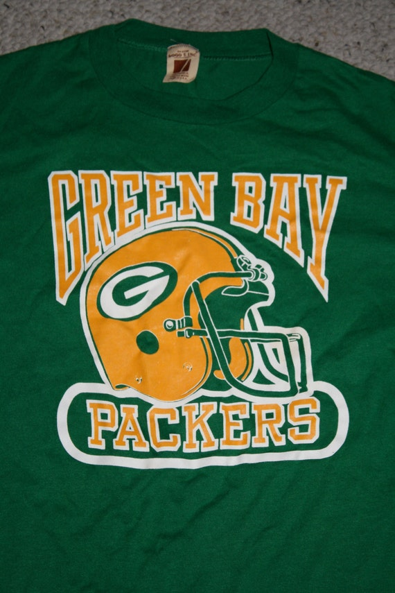 Vintage green bay packers shirt by dianasore on etsy for Green bay packers retro shirt
