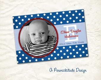 birth announcement born in the USA print yourself file