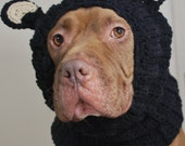 Black Bear Dog Snood MADE TO ORDER